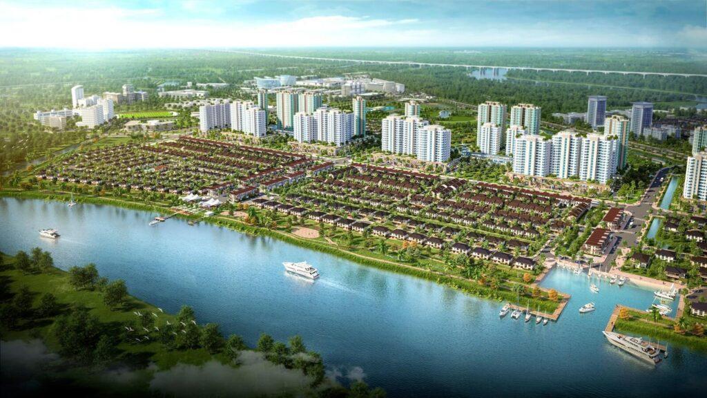 View từ sông khu đại đô thị waterpoint