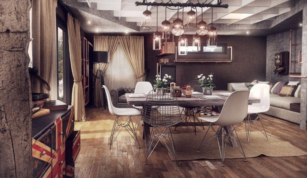 Phong cách thiết ké nội thất căn hộ vintage