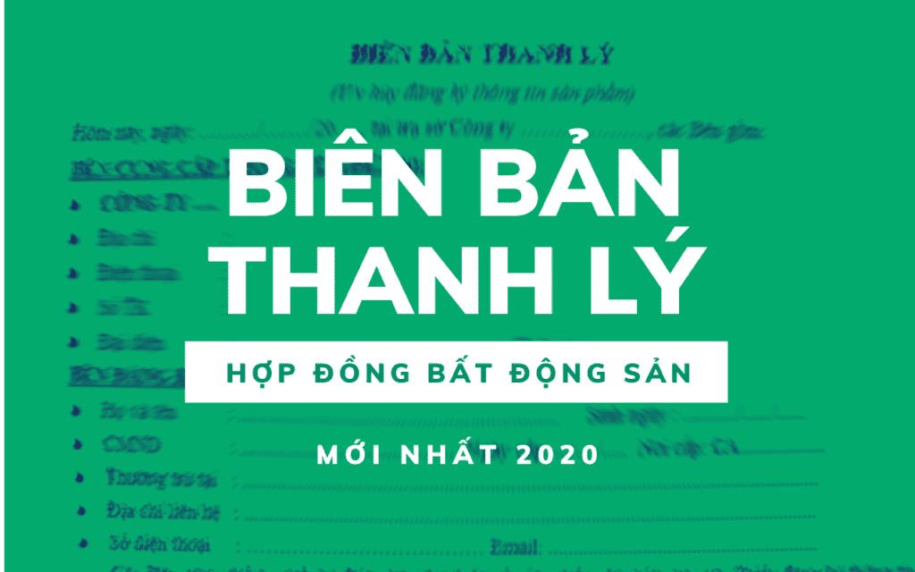 Bien ban thanh ly bat dong san