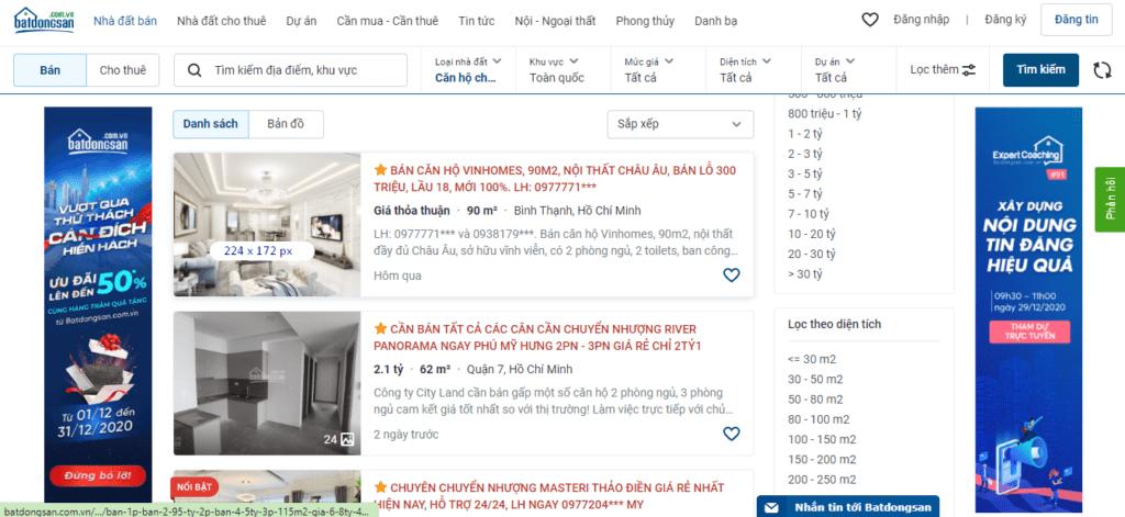 Kích thước hình ảnh đăng tin batdongsan. Com. Vn trên desktop
