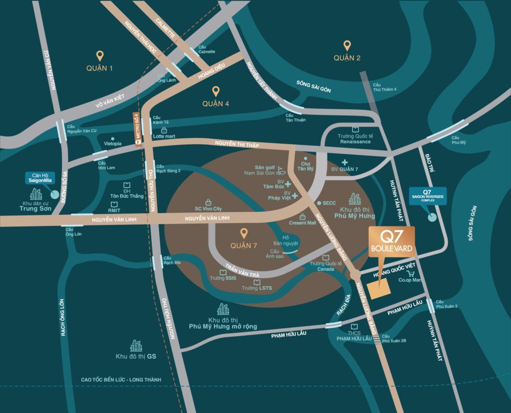 bản đồ vị trí  Q7 Boulevard